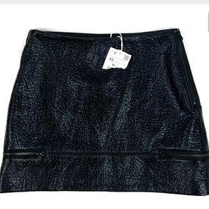 New Zara Shiny Textured Mini Skirt